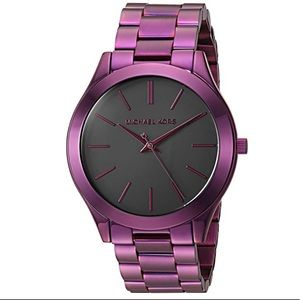 NWT Michael Kors Slim Purple watch